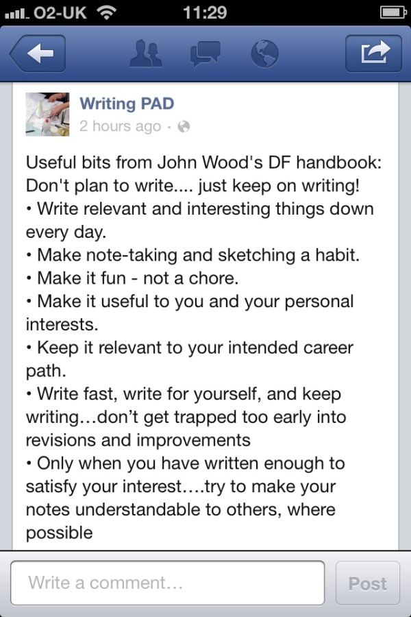 John Woods Writing Advice